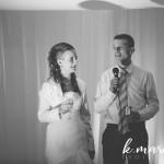 Novopečena mladoporočenca sta se zahvalila vsem prisotnim. Foto: KMarcella Photography