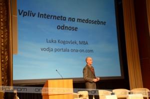 Luka Kogovšek je govoril o vplivu interneta na odnose.