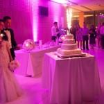 Tudi poročna torta je presegla vsa pričakovanja.