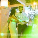 Mladoporočenca sta otvorila plesišče. Foto: Max Verderber