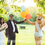 Novopečenima možu in ženi je čestital tudi kupid Ljubo. Foto: Max Verderber