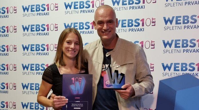 Websi Prvak 2021, ona-on.com - prevzem nagrade Luka Kogovšek & Tina Centrih